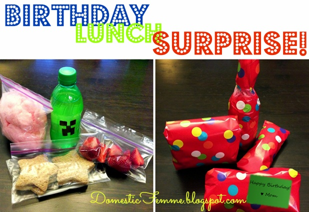 Birthday Lunchbox Surprise Idea by Domestic Femme