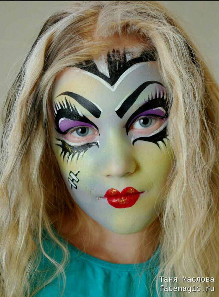 Maquillaje Para Halloween Nias Maquillaje De Fantasia Para Carnaval - Maquillaje-infantil-de-bruja