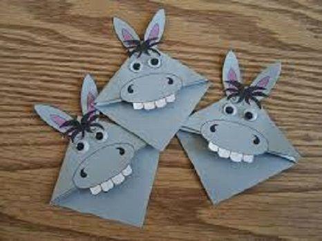 Donkey craft idea for kids | funnycrafts