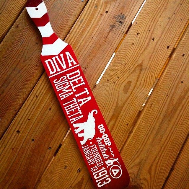 Delta Sigma Theta paddle