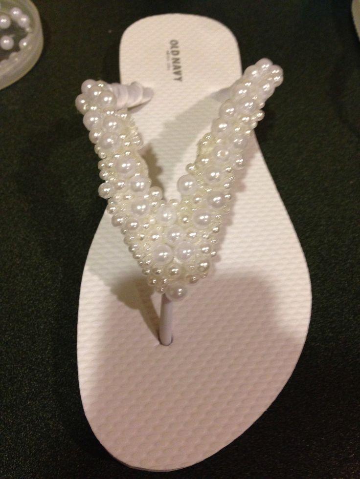 DIY Bridal Flip Flops