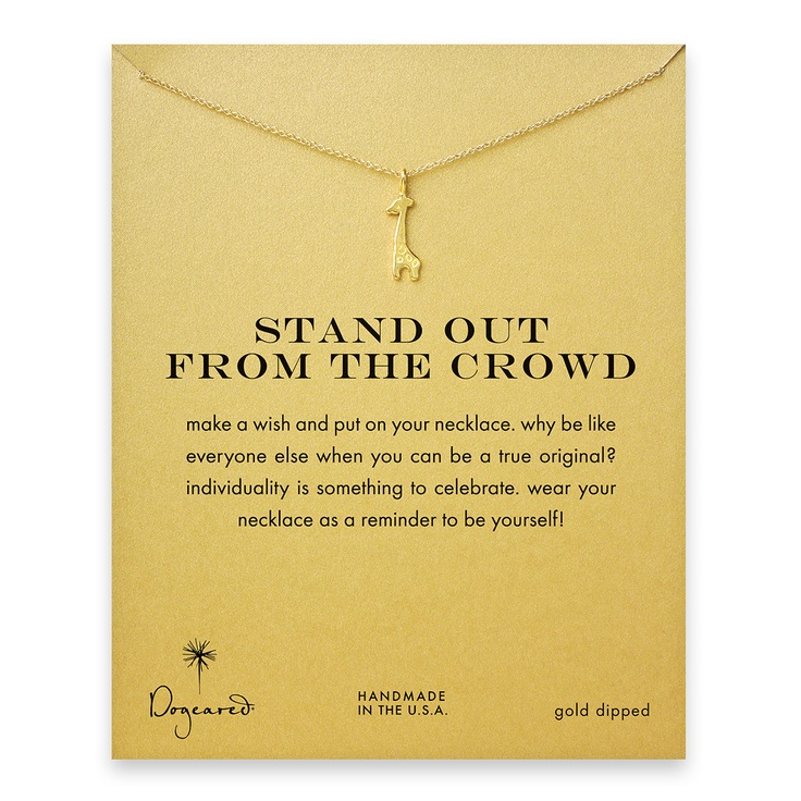 Stand Out From the Crowd - Dogeared - Gold-dipped GiraffeGiraffes Necklaces, Close Zoom, Biege Biege, Jeffrey Giraffes, Elisa Biege, Gold, Animal, Zoom Windows, Style Fashion