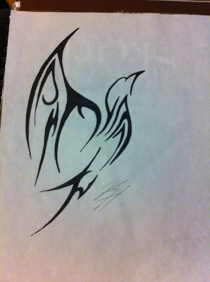 tattoo design bird tribal sparrow tattoo inspiration pinterest birds tribal tattoos. Black Bedroom Furniture Sets. Home Design Ideas