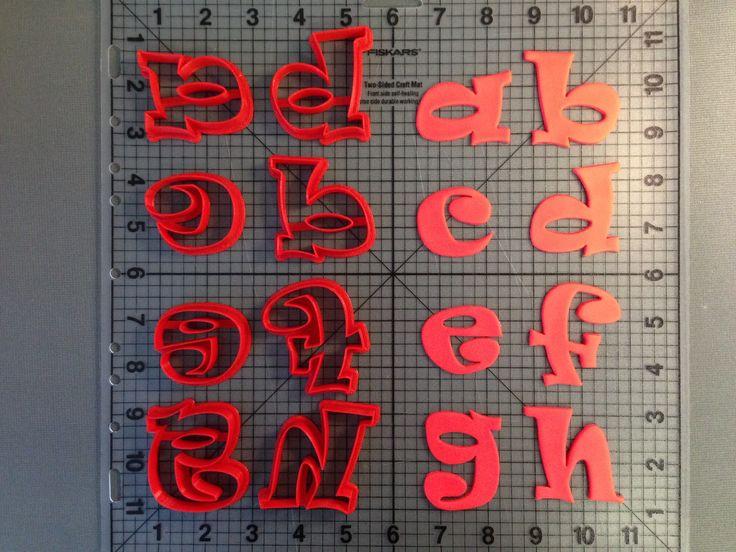 Lowercase Ravi Alphabet Cookie Cutters JBCookieCutters.com