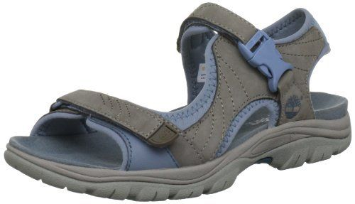 Timberland Women's Earthkeepers Jordan Pond 2-strap Sandal 8032R 5 UK Warm Grey Ladies Grey Timberland Sandals Upper. Nubuck Upper. 100% Recycled PET Mesh And Webbing Lining. Anti Fatigue Midsole, 42% Recycled Green Rubber Sole.  #Timberland #Shoes