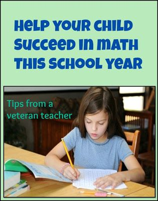 Help Your Child Succeed in Math this School Year #school #kids