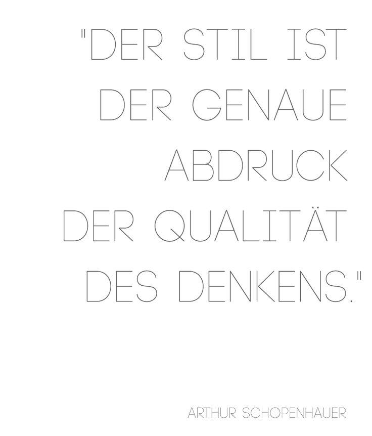 Schopenhauer-Zitat Typographie