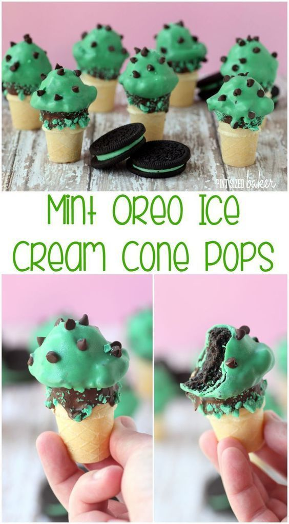 Fun for the family! Everyone will love these no melt ice cream cones! Mint Oreo Ice Cream Cone Cake Pops are perfect for your summer treats!