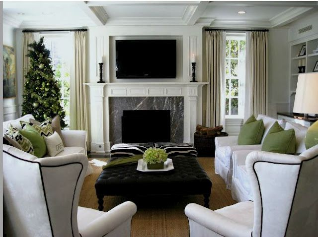 white, green, and black.  My favorites!  TG interiors