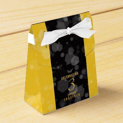 Elegant Striped 3rd Leather Wedding Anniversary Favor Box - confetti wedding marriage party gift idea diy