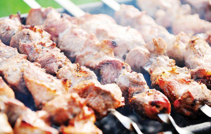 Lemongrass lamb kebabs with sweet chilli sauce