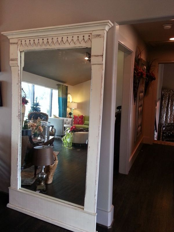 New Large Mirrors  DIY Leaning FullLength Mirror Frame