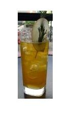The 4th and Pimms drink recipe is made from Boca Loca cachaca, Pimms No. 1, lemon juice, Calvados, simple syrup and ginger ale, and served over ice in a highball glass.