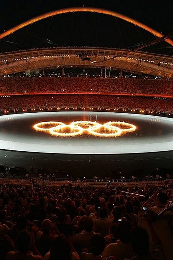 During the unforgettable Athens Olympics opening ceremony ~ August 13, 2004