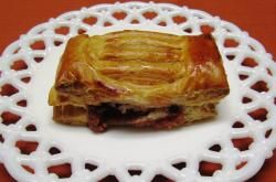 Flaky puff pastry filled with guava and cream cheese.