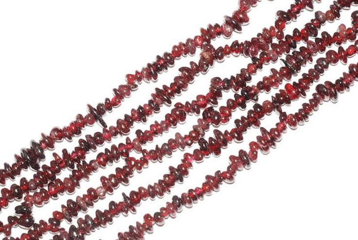 "AAA 2 Strand Natural Garnet Stone Chips Beads Strand Jewelry Making Chips 34"" #empressbeads"