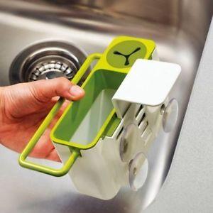 kitchen-gadget-tool-cleaning-storage-box-drainer-Utensil-Sink-clean-brush-holder