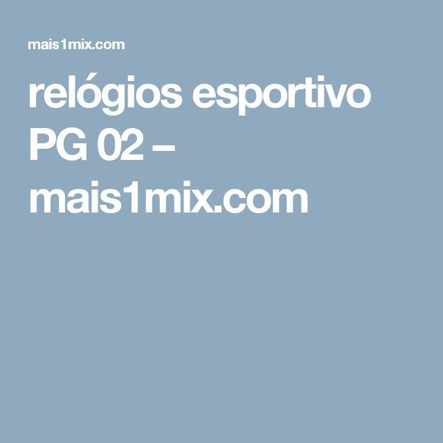 relógios esportivo PG 02                      – mais1mix.com