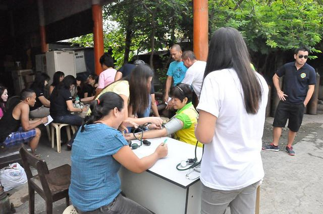 University of San Carlos Lions Club (Philippines) | Club members provided diabetes screenings