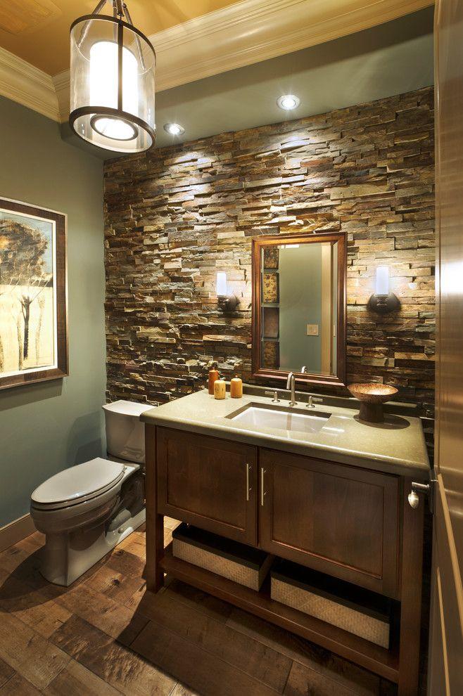 Stone Wall Decorating Ideas For Bathroom Beige Ceiling