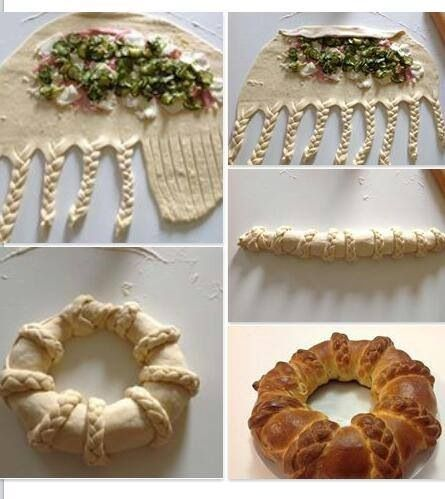 Use sweet or savory filling to make this artsy wreath.