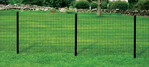 48 Quot H X 71 Quot W Black Euro Fence Panel At Menards Kennel