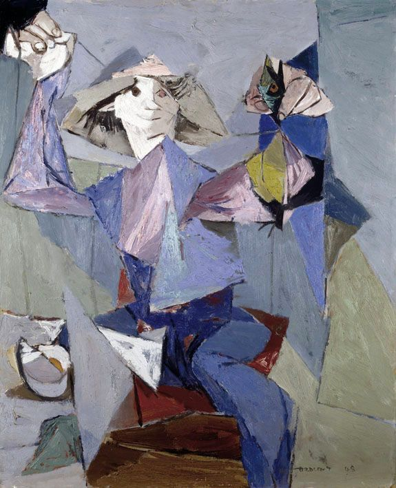 'Man Creating Bird' (1948) by Louis le Brocquy