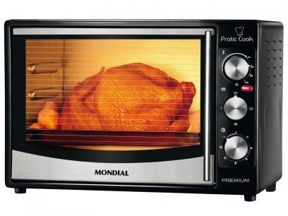 Forno Elétrico Mondial Premium Pratic Cook FR-10 - 32L Grill Timer com as melhores condições você encontra no Magazine Tradelux. Confira!