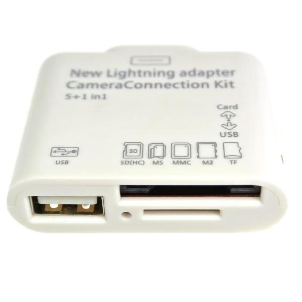 【iPad4 (第4世代) iPad mini 対応】Lightningコネクタ接続 コネクションキット (マルチカードリーダー)上海問屋 DN-84351 [★] |パソコン周辺機器・ブランド商品の【上海問屋】通販サイト