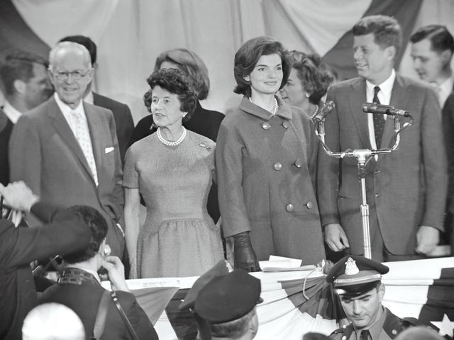 President John F. Kennedy and his family greet the press the day after the 1960 election at the Hyannis National Guard Armory. Stanley Tretick (c)Estate of Stanley Tretick, LLC. All Rights Reserved.
