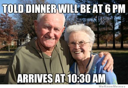 grandparents on thanksgiving meme