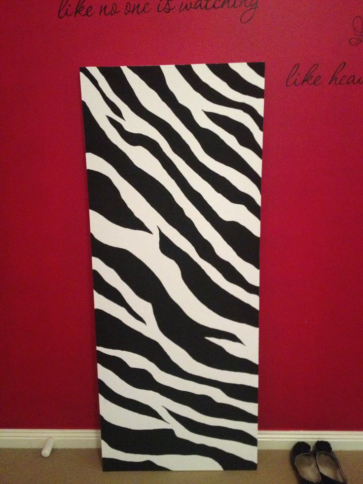 Zebra print in Acrylic