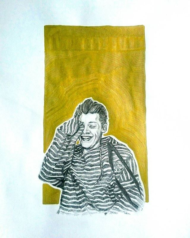 gold 👑 @j_kisielewicz @harrystyles #harrystyles #drawing #🎨 #pencildrawing #pencil #marker #art