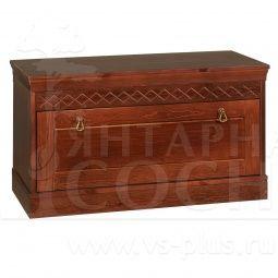 Купить скамья-сундук для прихожей дания недорого в интернет магазине мебели Янтарная сосна