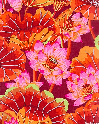 Lake Blossoms Burgundy Kaffe Fassett