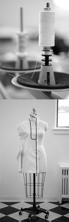 Fashion Design Studio behind the scenes; dress form; fashion atelier; fashion in the making // Sophia Graydon