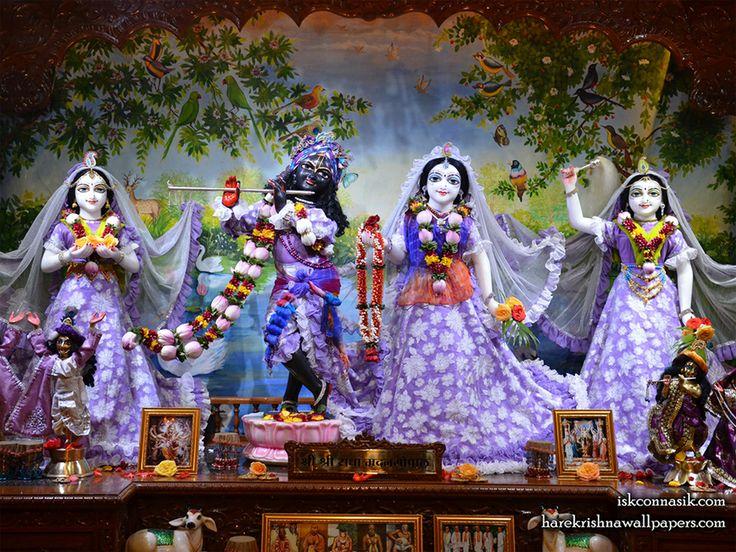 Sri Sri Radha Madan Gopal Lalita Vishakha, Address: Vrindavan colony, Gen. Vaidya nagar, Poornima Stop, Dwarka, Nashik, Maharashtra, India – 422011