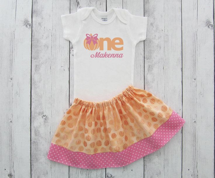 Pumpkin First Birthday Outfit in pink and orange - girl first birthday outfit, pumpkin birthday, pink orange pastel, first birthday dress by noellebydesign on Etsy https://www.etsy.com/listing/243923120/pumpkin-first-birthday-outfit-in-pink