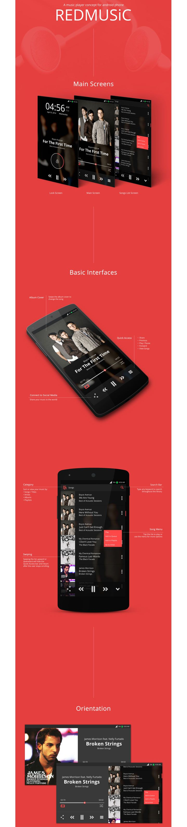 Music Player Concept for Android Phone