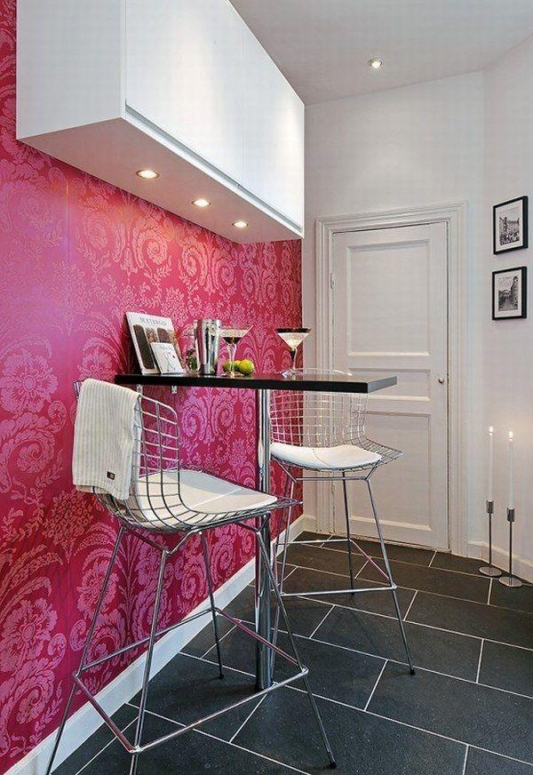 black and white apartment design 17 554x805 40 scandinavian wallpaper ideas making decorating a breeze - Magenta Kitchen Design
