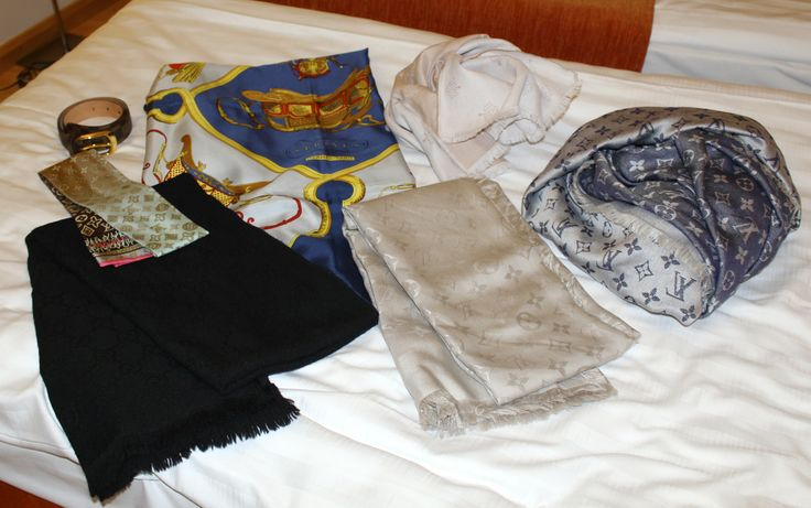 Mulberry, Hermes, Louis Vuitton scarf