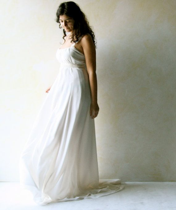 Grecian Wedding dress train wedding dress Empire by LoreTree