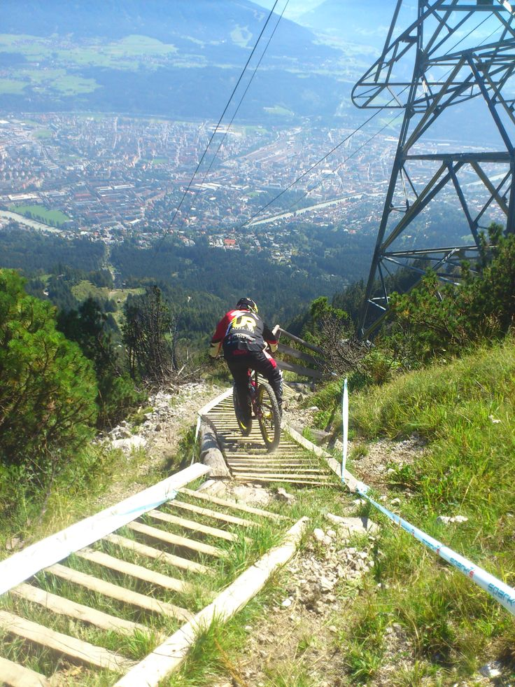 Nordkettenpark #Innsbruck with extreme downhill parcours, photo by Hannes Wimmer/mounthagen on Pinterest