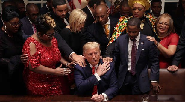 President Trump Participates in Prayer Call for America on Facebook Along with Paula White, James Robison and Others
