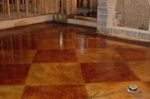 Stained concrete floor by lora
