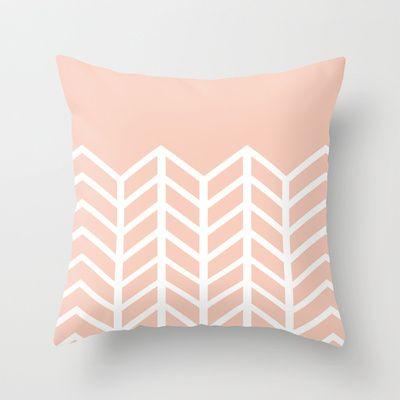 {FREE SHIPPING THRU 4/28} LACE CHEVRON (PEACH) Throw Pillow by nataliesales - $20.00
