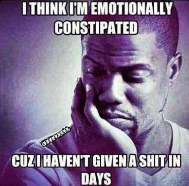 Emotionally Constipated - Funny Kevin Hart Meme
