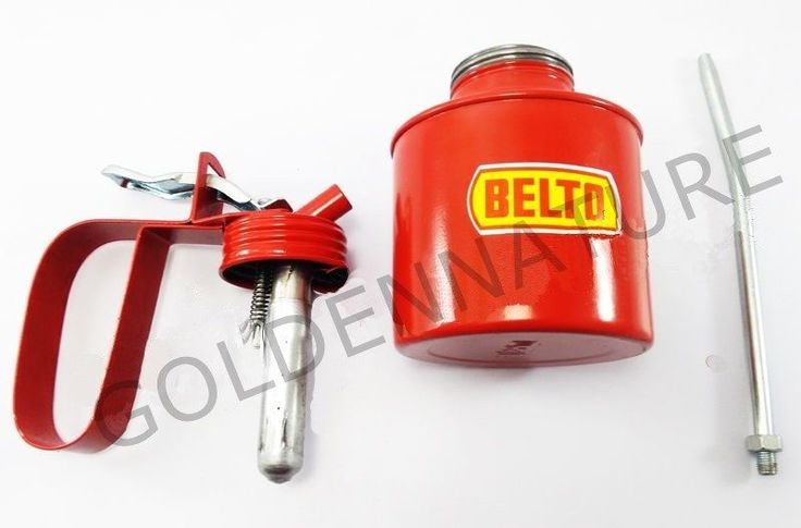 1/2 PINT METAL HIGH PRESSURE OIL CAN WITH SQUIRT SPOUT NOZZLE PUMP NEW #BELTO
