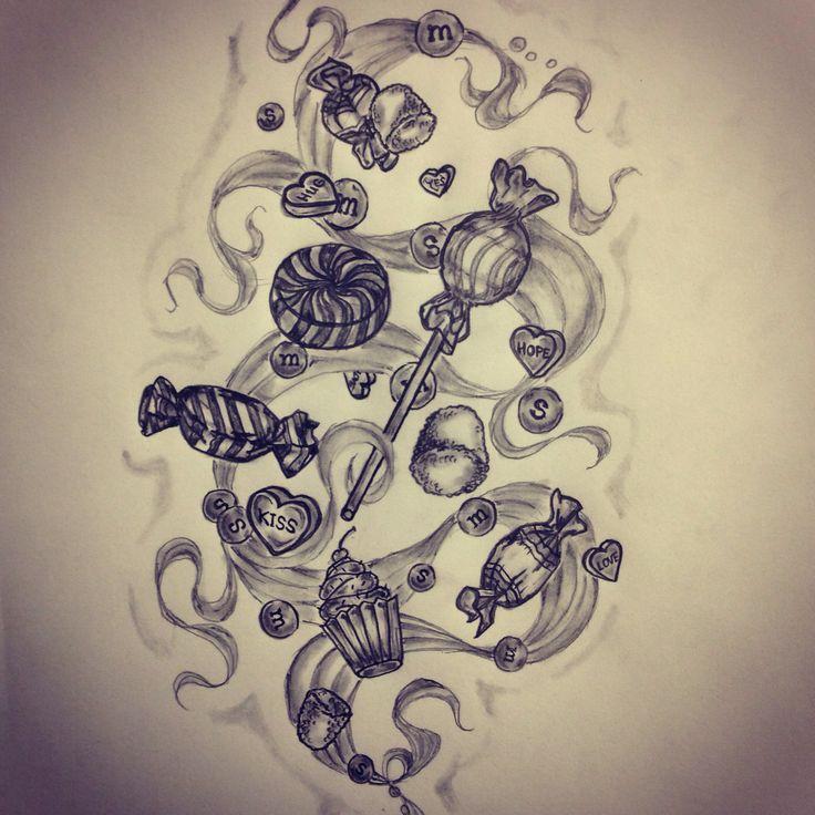 Candy tattoo sketch by - Ranz