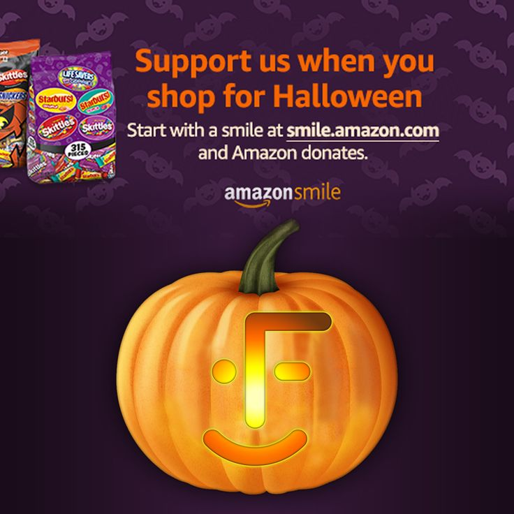 #StartWithaSmile at https://smile.amazon.com/ch/13-6013760 to stock up for #Halloween and Amazon donates to myFace. What a #Treat! #amazonsmile #amazon